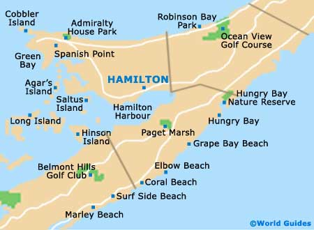 Map of Hamilton airport